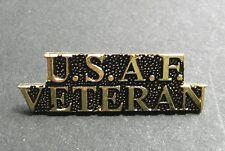 USAF US Air Force Veteran Script Lapel Pin Badge 1.5 inches