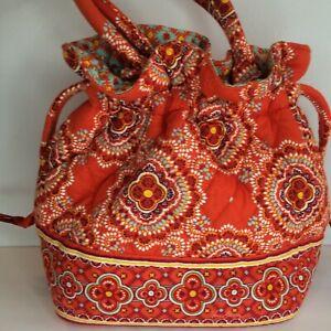 Vera Bradley PAPRIKA Emma Small Drawstring cinch Bucket Purse Bag Tote