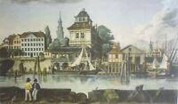 DAS ALTE BAUMHAUS IN HAMBURG -  Nachdruck eines Kupferstichs von 1822 nach RADL
