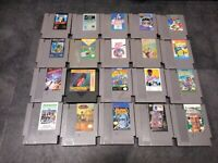 20 Nintendo NES Game Lot Rad Racer, Operation Wolf, Commando, Hogan's Alley