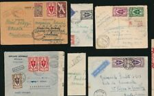 CAMEROUN CAMEROON WW2 CENSORED COVERS FRANCE LIBRE FRANKING 1944 + 1945