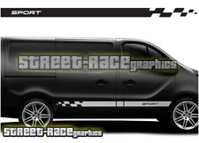 Renault Trafic racing stripes 001 decals vinyl graphics (SWB or LWB)