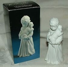 1983 Avon The Shepherd Boy with Lamb in Box White Bisque Porcelain Nativity Coll