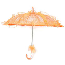 Lace Parasol Wedding Lace Flower Wedding Bride Parasol Umbrella Orange M9E7