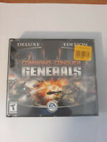 PC COMMAND & CONQUER Generals DELUXE EDITION + Zero Hour RTS PC CD-ROM