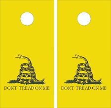 Don't Tread On Me - Gadsden flag- Cornhole Board Skin Wrap Decal  SET -LAMINATED
