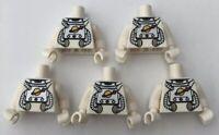 LEGO 5 x Torsos Spaceman Space men Series 1 Classic Minifigure Torso Bundle