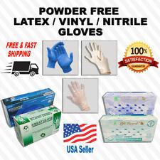 Nitrile/Latex/Vinyl Gloves Powder Free -Exam- Food service - SM,MD,LG&XL