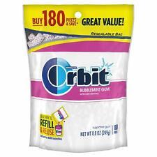 Orbit Bubblemint Sugarfree Gum, 180 piece bag