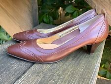 SALE @ ROS HOMMERSON Saddle Oxford Brown Leather High Heels Pumps Sz 5.5 ??ts17j