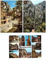 8 Nostalgische Postkarten Katalonien/Spanien: Montserrat, Barcelona, Guadalest