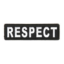 Embroidered Respect Sew or Iron on Patch Biker Patch