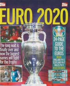 Daily Star Magazine: EURO 2020 Guide, Wall Map, Chart Fixtures June 06.2021