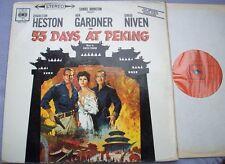 55 DAYS AT PEKING Dimitri Tiomkin UK CBS STEREO 1st PAPER LABELS Soundtrack Film