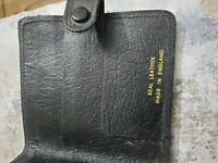 Vintage Real Leather Made in England Wallet Holder Purse