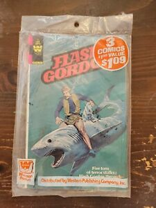 Unopened Whitman Comic Packs - Buck Rogers, Lost in Space, Flash Gordon