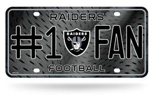 Las Vegas Raiders #1 Fan Metal Sign License Plate Tag Man Cave NFL