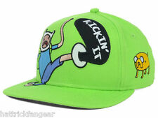 "ADVENTURE TIME ""KICKIN IT"" CHARACTER YOUTH SNAPBACK CAP/HAT - AGES 4 -10"
