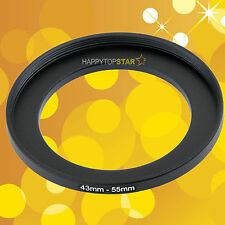 43mm to 55mm 43-55 mm Female to Male Step-Up Lens Ring Adapter Adaptor For CPL