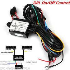 Car SUV LED Daytime Running Light DRL Relay Harness Automatic On/Off Control Box