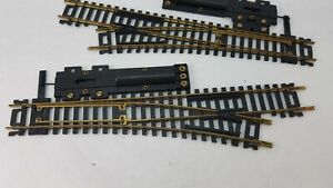 Pair of Vintage Right & Left HO Scale Train Switch Tracks - Made in Yugoslavia