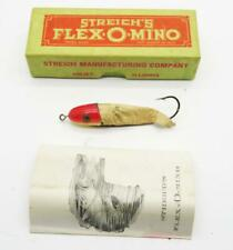 New listing R94) Vintage Streich'S Flex-O-Mino Fishing Lure W Box And Paperwork