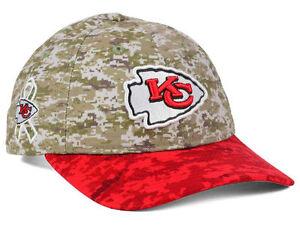 Kansas City Chiefs NFL New Era WOMENS Salute to Service Camo Adjustable Cap Hat