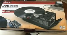 Ion Duo Deck Portable Turntable Record and Cassette Player/Converter