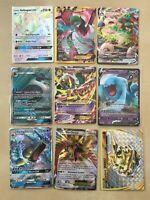 Pokemon 9 UR lot 1 of each, HYPER, SECRET, VMAX, FULL ART, MEGA, V, GX EX BREAK