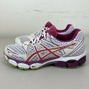 Asics Gel-Pulse 6 Womens Running Shoes White Pink US 7 VGC + Free Postage