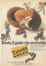 X4523 TREETS il gusto che scrocchia - Pubblicità 1976 - Advertising