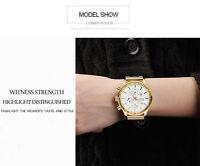 Luxury Mens Date Stainless Steel Sport Army Quartz Analog Wrist Watch Waterproof