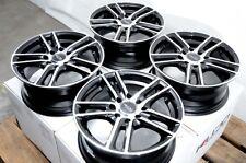 """14"""" Wheels Integra Cobalt Escort Accord Civic Miata Cooper MR2 Black Rims 4x100"""