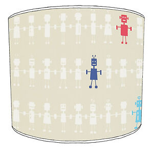 Reggie Robots Lampshades, Ideal To Match Cushion Covers
