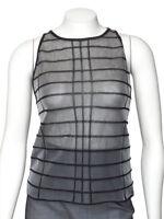 *FINAL MARKDOWN!* Vtg 90s GIORGIO ARMANI Silver Gray Sheer Knit Top sz 8 42 IT