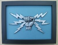Large Scale Framed RAF TELECOMMUNICATIONS FIST & SPARKS Royal Air Force Badge