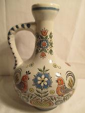 Ulmer Keramik Karaffe, Krug, Bembel 0,7l Vögel Blumen