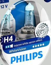 White vision Xenon Effect H4 Headlight Bulb + side light bulbs, Twin Pack