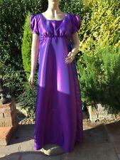 Regency Dress, Jane Austen, Taffeta Ballgown, Size 16, Free P&P