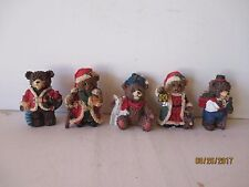 """VINTAGE CHRISTMAS  BEAR FIGURINES """"5"""" - SEE INFO & PICTURES - FREE SHIPPING"""