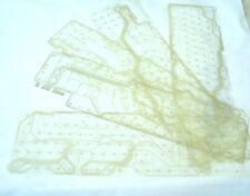 Computer Keyboard Mylars, Plastic Sheets with Circuit Board Patterns Lot of 5