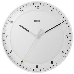 Braun BC17W Classic Large Analogue Wall Clock White Boxed New
