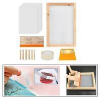Starter kit per serigrafia 24x cornice per serigrafia in legno con rete e nastro