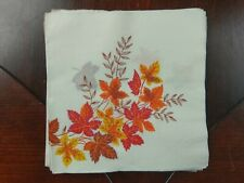 Vtg Maple Leaves Paper Napkin Autumn Fall Leaf Red Orange Yellow Brown 23 Count