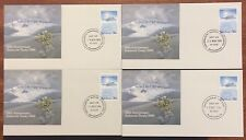 1986 AAT treaty base cancel set of 4  first day covers