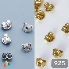 925 SOLID STERLING SILVER TINY EARRING BUTTERFLY BACKS SCROLLS STOPPER  5mm  408