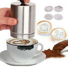 Coffee Decorating Dredger Cocoa Duster Mold cappuccino art barista tool New