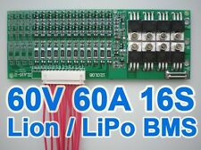 60V 67.2V 16S 60A Lithium ion Li-ion Li-Po LiPo Polymer Battery BMS PCB System