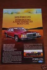 ★★ 1979 Ford Ltd Landau 2Dr & 4 Dr Originales Vintage Anuncio Ad 79 80 5.0