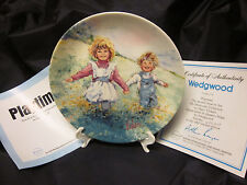 """Wedgwood Vintage Plate Signed """"Playtime"""" 2nd Issue My Memories 8"""" Coa '82"""